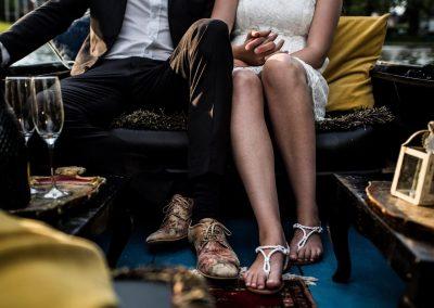 romantische gondelvaart leeuwarden gondola tours bruid